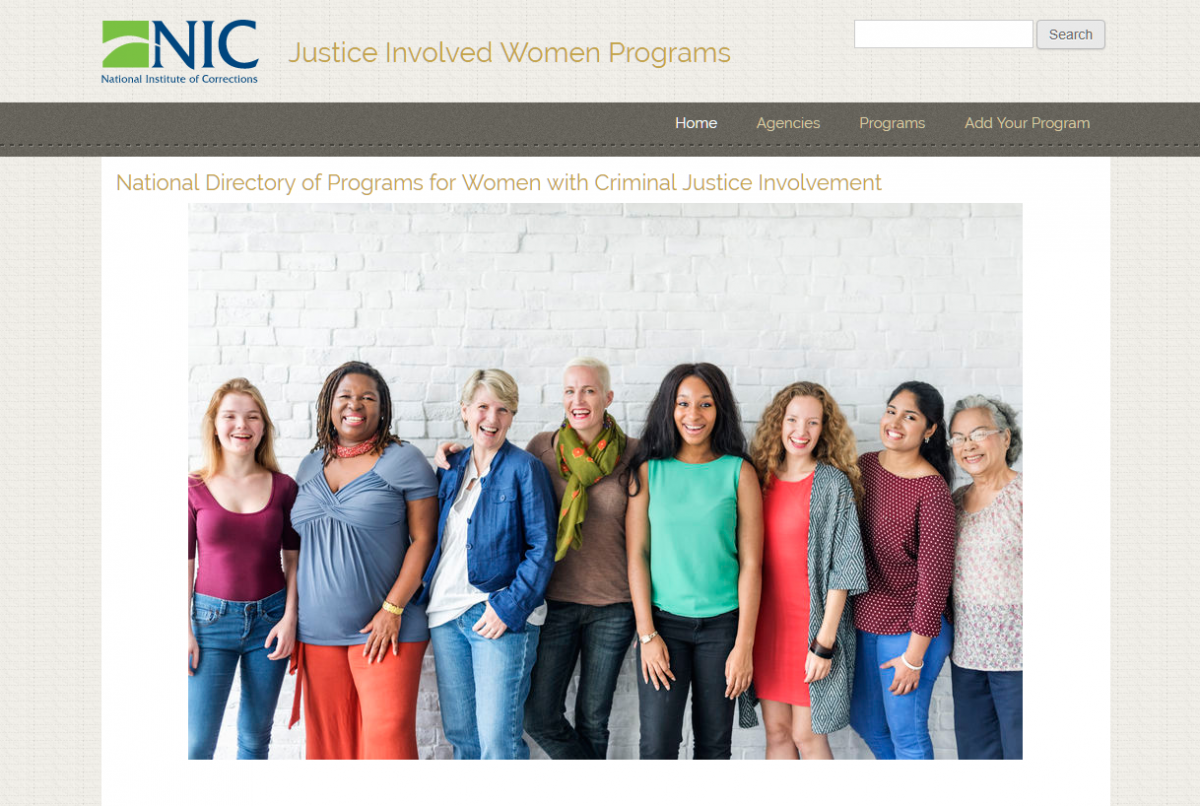 Justice Involved Women Programs snapshot