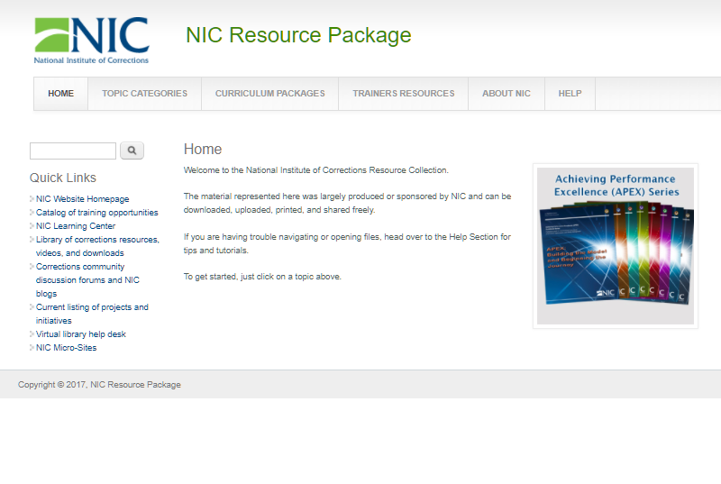NIC Resource Package