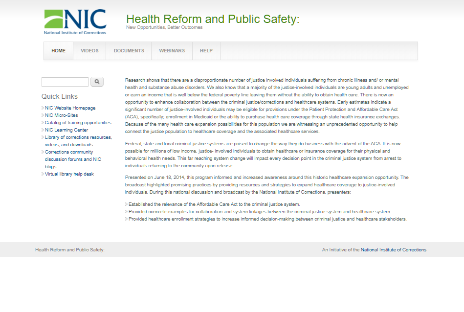 Health Reform and Public Safety